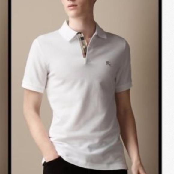 987e95a3 Burberry Shirts | New Mens White Nova Check Polo Shirt M | Poshmark